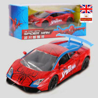 Marvel Spider-Man Spiderman Cars Gallardo Lamborghini Diecast Kids Toys Gifts
