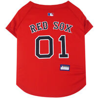 Boston Red Sox MLB Pets First Officially Licensed Dog Jersey, Red Sizes XS-XXL