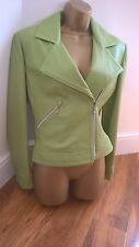 Y LONDON leather flying jacket taille 10 To 12 Fab condition