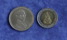 2006 King Bhumibol Adulyadejs 60th Year Reign 2 Coin Set 10 & 20 Baht Rama IX b