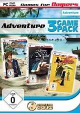 PC juego de ordenador * 3 Game Pack Adventure * Isla del Tesoro + davinci + atlantis nuevo