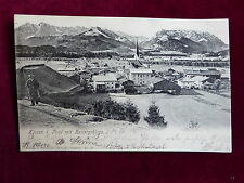 Ansichtskarte Kössen in Tirol mit Kaisergebirge, Lichtdruck 1904 nach Berlin