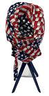 Tan's Club - USA Do-Rag Dew Rag for Men - Patriotic Skull Cap - American Flag
