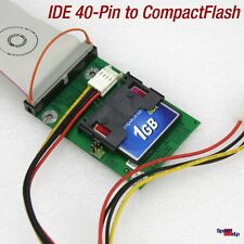 PROFESSIONAL QUALITY NEW IDE 40-POL TO COMPACT FLASH ADAPTER CF-CARD ALL PCs