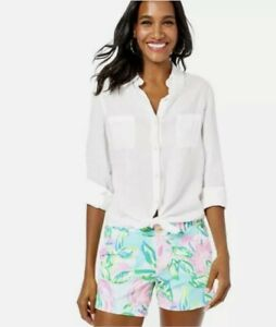 NWT Lilly Pulitzer Callahan Short in Multi Totally Blossom Size 6