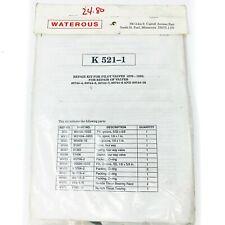 Waterous K 521 1 Repair Kit For Pilot Valves Fire Truck Water Pump 1979 1990