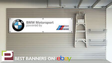BMW Motorsport Workshop Garage Banner, e30, x5, m3, m5 530d, Banner con Occhielli