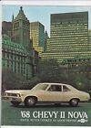 1968 CHEVROLET CHEVY II NOVA US Range Brochure SS COUPE etc