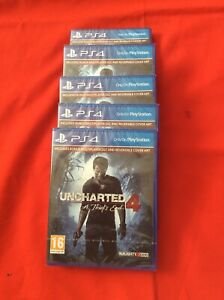 5X Uncharted 4: A Thief's End PS Hits PS4 Playstation 4 Game - New & Sealed.