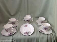 """""""CROWN TRENT""""STAFFORDSHIRE SET OF SIX CHINA CUPS AND SAUCERS-PRICE REDUCED- NEW"""