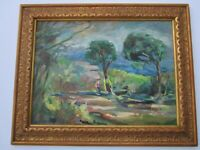 FINEST RAYMOND MARCH PAINTING IMPRESSIONIST VINTAGE COASTAL LANDSCAPE VIEW MOD
