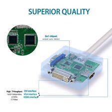 Mini DP Displayport Thunderbolt to DVI  HDMI VGA Adapter 3 in1 für Apple.MacBook