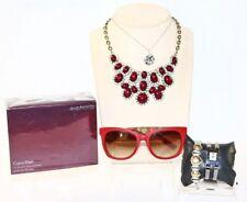Rare Alexander McQueen SUNGLASSES Red Tortoise W/ Calvin Klein Perfume