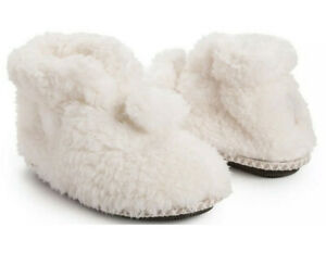 Muk Luks Faux Fur Bootie Slipper Size 11-12 New With Tags