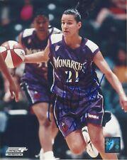 TICHA PENICHEIRO AUTOGRAPHED 8x10 WNBA LOGO PHOTOGRAPH AUTHENTIC MONARCHS