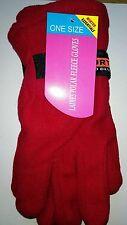 One Size Winter Essentials Ladies Polar Fleece Gloves in Red