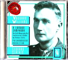 VAUGHAN WILLIAMS- London Symphony/Norfolk Rhapsody- CD- Leonard Slatkin (Tallis)