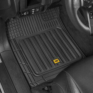 CAT® Car Rubber Floor Mats All Weather Liner 3 Pieces Heavy Duty Set Trim Fit