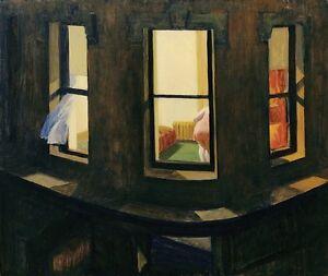 "Edward Hopper Night Windows Canvas Print 16""x20"""