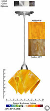 Jezebel Radiance Amber Yellow Gold Small Pendant Light with Nickel Metal