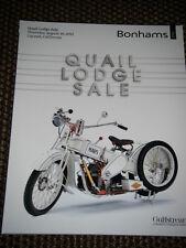BONHAMS AUCTION CATALOGUE AUGUST 2012 CARMEL CALIFORNIA QUAIL LODGE BSA ROCKET