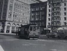 USA056 MARKET STREET RAILWAY Co 1950s TROLLEY PHOTO San Francisco California USA