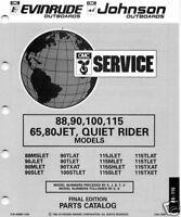 1993 OMC 88,90,100,115,65,80 JET,QUIET PARTS MANUAL