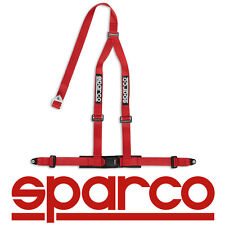 "Sparco 2"" 3 Point 3pt Bolt-In Street Harness Seat Safty Belt - RED 