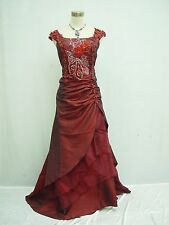 Cherlone Plus Size Burgundy Ball Wedding/Evening Formal Bridesmaid Dress 18-20