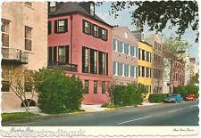 Postcard: Rainbow Row, Charleston, South Carolina, USA (1980)