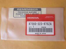 HONDA CB 750 CB350 CB450 CB360 CB175 CB500 CB550 label decal sticker gas tank