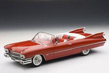 1/18 Autoart #70401 - Cadillac Eldorado Convertible Série 62 Rouge Brillant Neuf