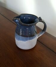Blue and Gray Pottery Small Pitcher/Creamer Signed