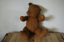 Ours en paille , teddy bear , articulé, jouet vintage 62 cm