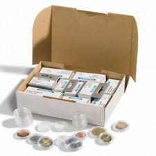 Assortiment de 100 capsules numismatiques pour les pièces euros.