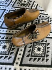 L'Artiste by Spring Step Leather Upper Chino Mule Clog Shoes Size 9-9.5 Slip On