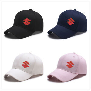 Mens Womens Gift Him Suzuki Embroidered Auto Logo Hat Black Baseball Cap Adjust