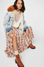 Free People * CP Shades * Lily Cotton Maxi Skirt * Peony * Plaid