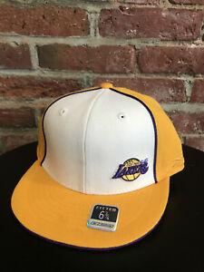 NEW BOYS VINTAGE REEBOK LA LAKERS LOS ANGELES NBA HEADWEAR HAT SIZE FITTED 6 3/4