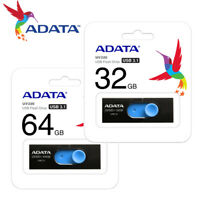ADATA 32GB / 64GB UV320 Capless Design USB 3.1 USB Flash Pen Drive BLACK
