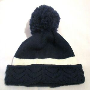 Wigwam Navy and White Knitted Beanie Ski Cap