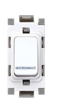 Deta G3561 20A Double Pole Grid Switch marked Microwave - White