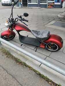 Elektro E-Chopper / Scooter matt-rot 2000W 55km mit Straßenzulassung NEU