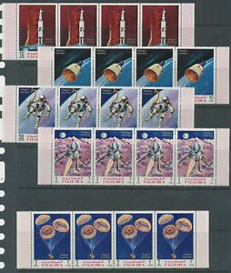 [PG23] Fujeira airmail space set very fine MNH stamps in strips of 4 val $60