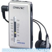 Sony mini Radio SRF-S84 FM/AM Super Compact Radio Walkman Analogue Tuner-Silver