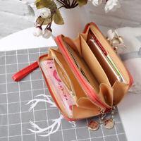 Card Package Women's Clutch Coin Purse Double Zipper Fashion Purse Long Wallet