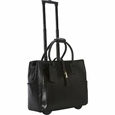 Cabrelli Gloria Gold Rolling Laptop Case Women's Bag Wheeled Briefcase 716016U