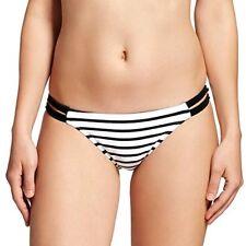 4e7cde0f74 Xhilaration Black   White Striped Strappy Hipster Bikini Swim Bottom Small