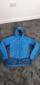 JACK WOLFSKIN BLUE PADDED DOWN / FEATHER HOODED PUFFER JACKET SIZE L