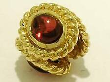 Bd045 Authentic Genuine 9ct SOLID Gold NATURAL Garnet Rope Bead Charm